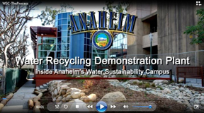 Screenshot from video of Water Sustainability Campus with city logo