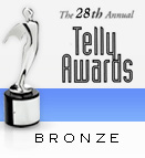 "Trophy and text ""The 28th Annual Telly Awards - Bronze"""