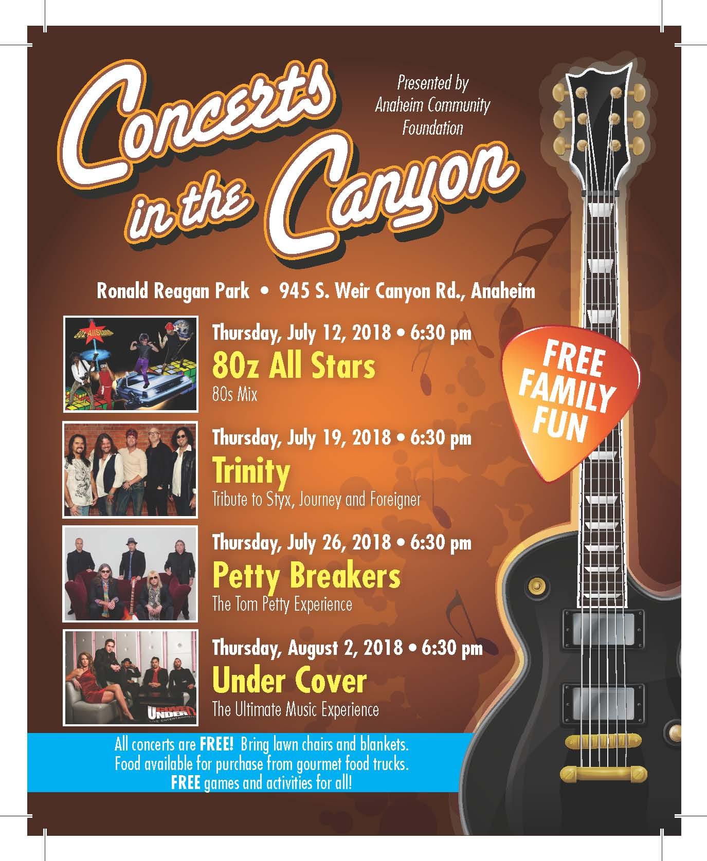 2018 Concerts In the Canyon