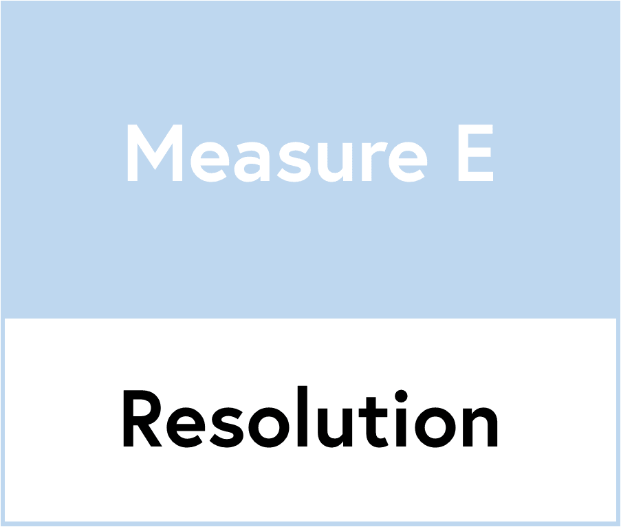 Measure E resolution