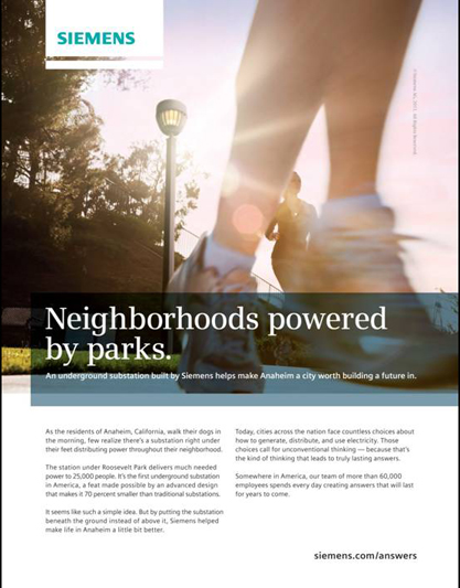 "Image of flyer with runners and text with title ""Neighborhood powered by parks"""