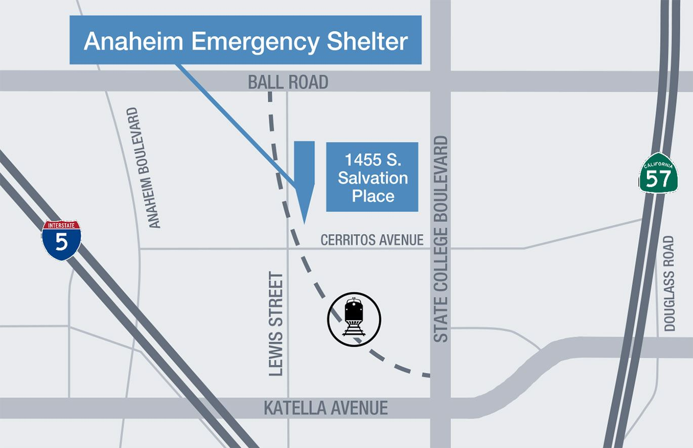 Ana Emergency Shelter location map 2-1-19