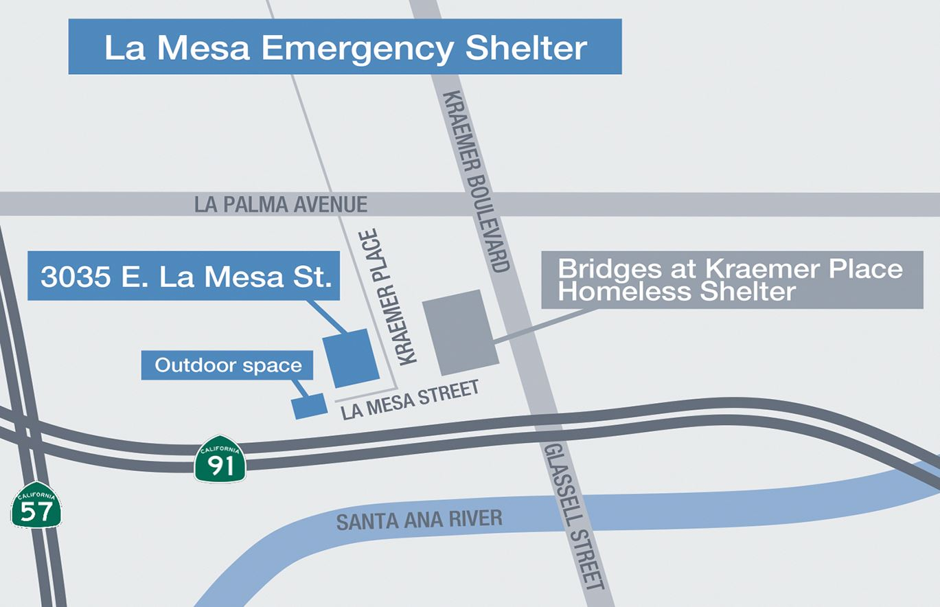 Map for La Mesa Emergency Shelter