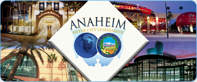 Anaheim Sister City Commission Banner