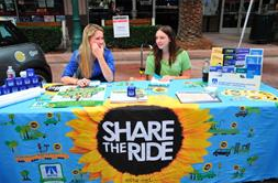 Share the Ride booth