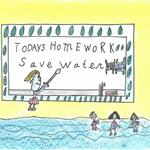 Poster drawing of kids in a water classroom