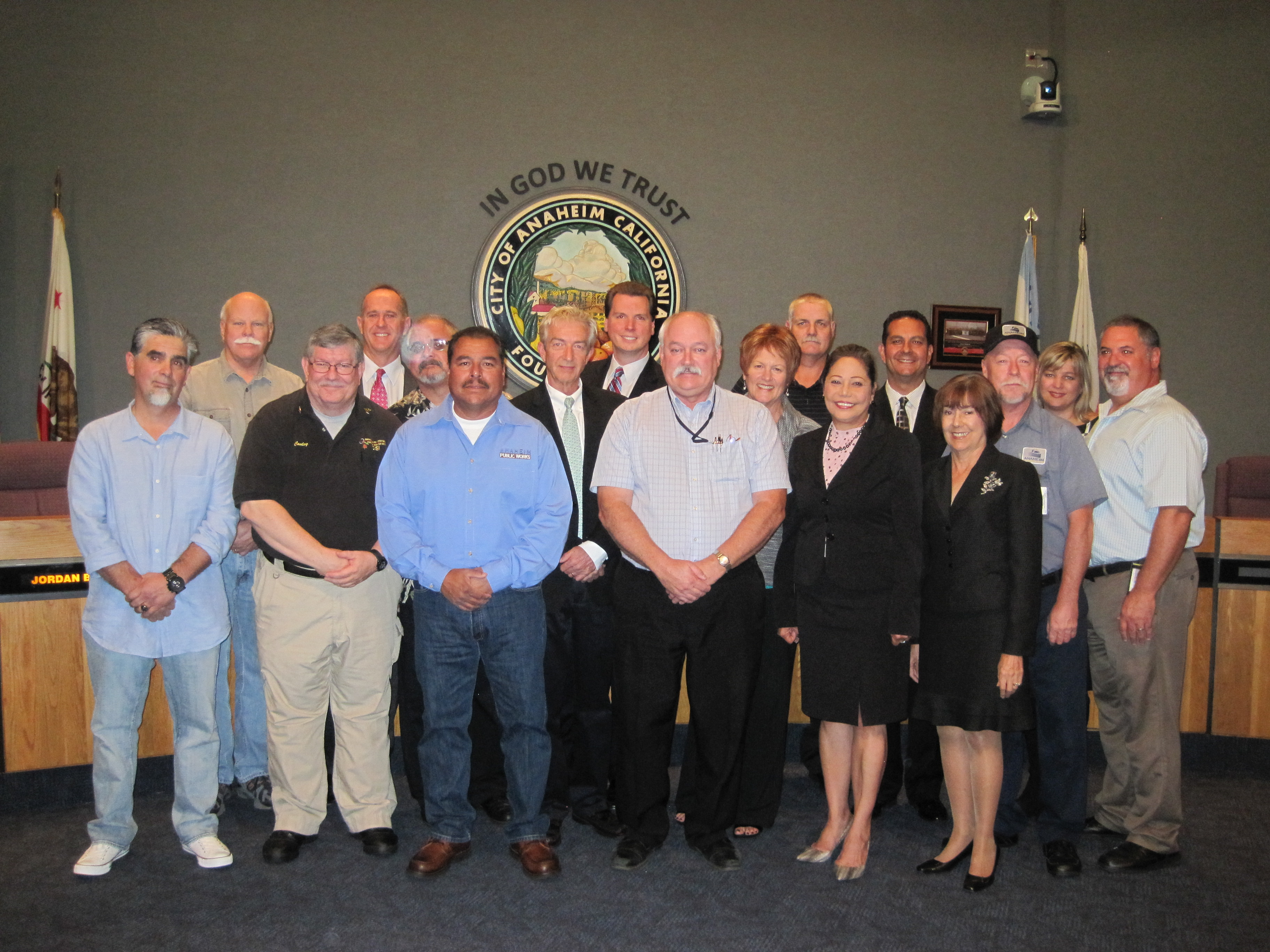 Group photo with Councilmembers and Public Works staff