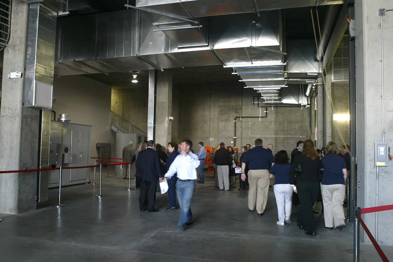 People inside underground substation