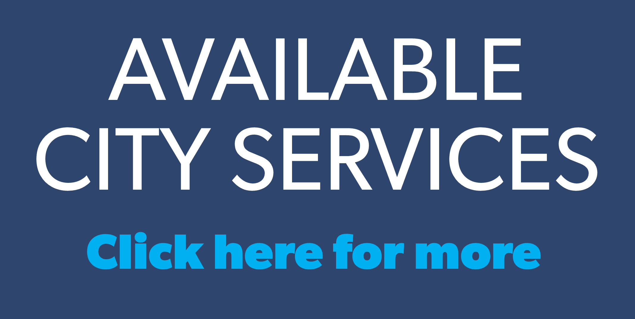 Available city services