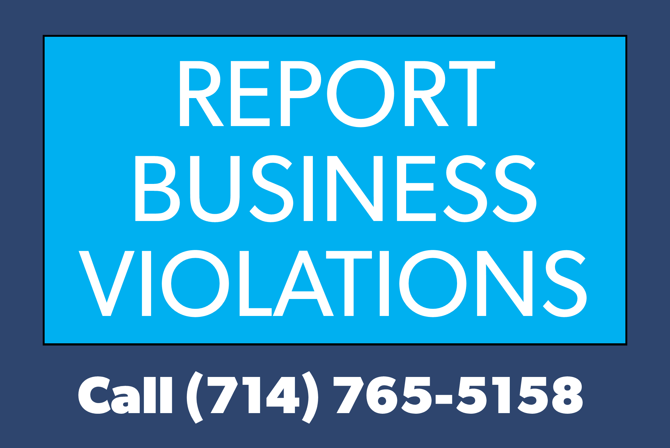 Report businesses button