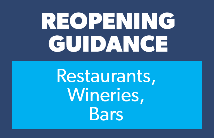 Reopening - restaurant wineries bars