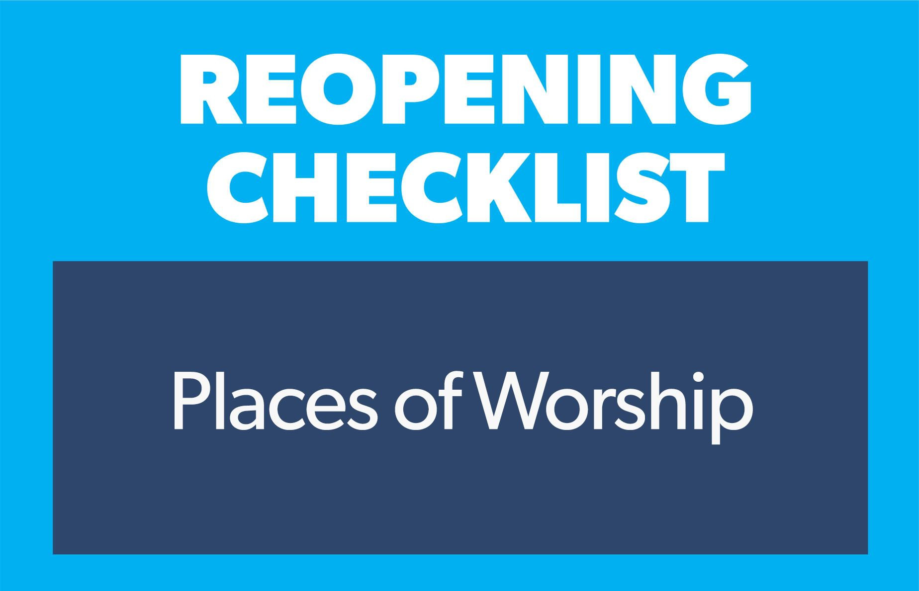 checklist places of worship