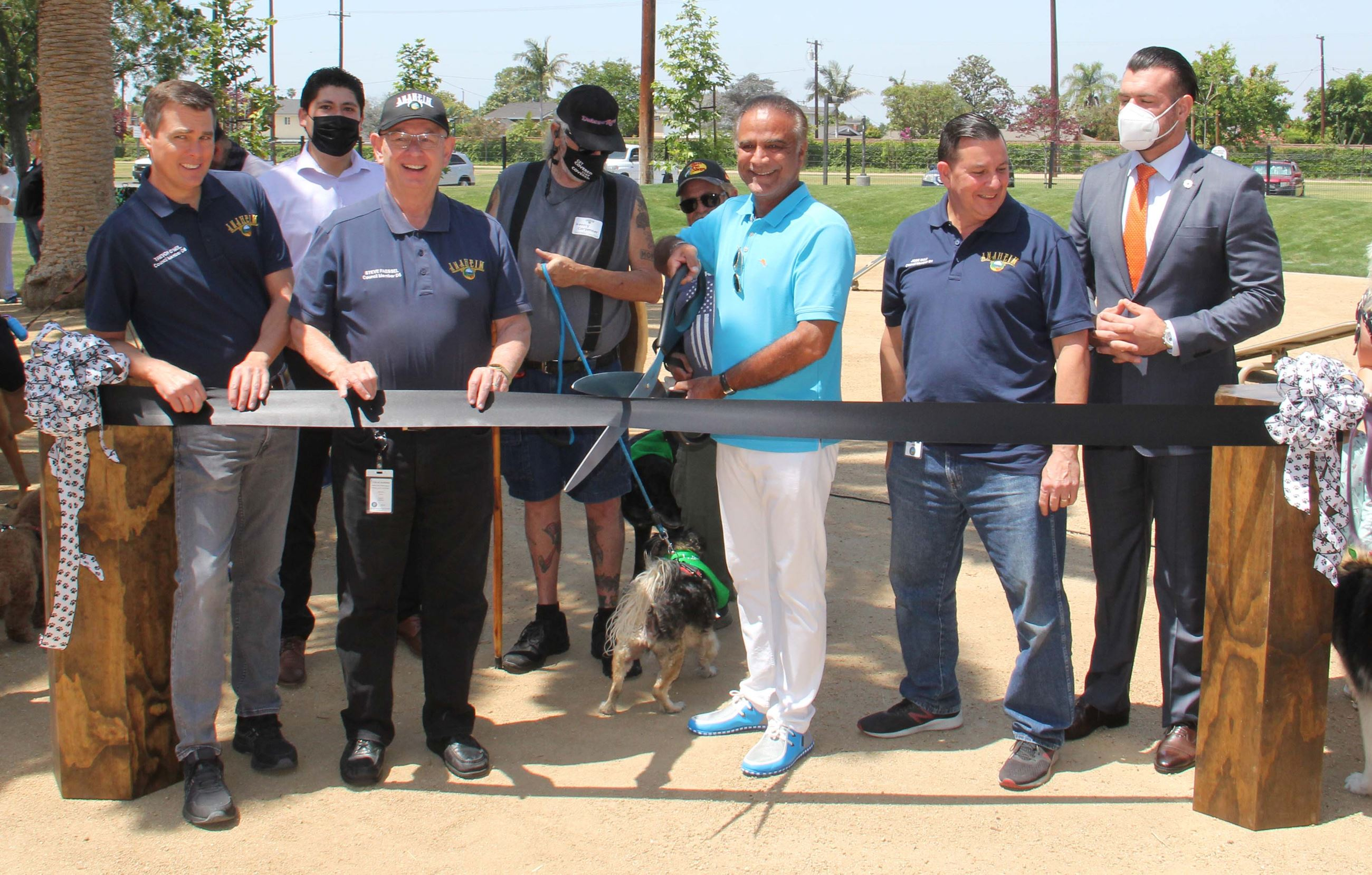 Maxwell Dog Park ribbon cutting