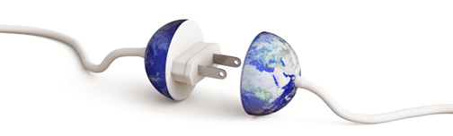 Electrical Plug-in with Earth globe design