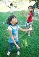 Kids Playing With Bubble Wands