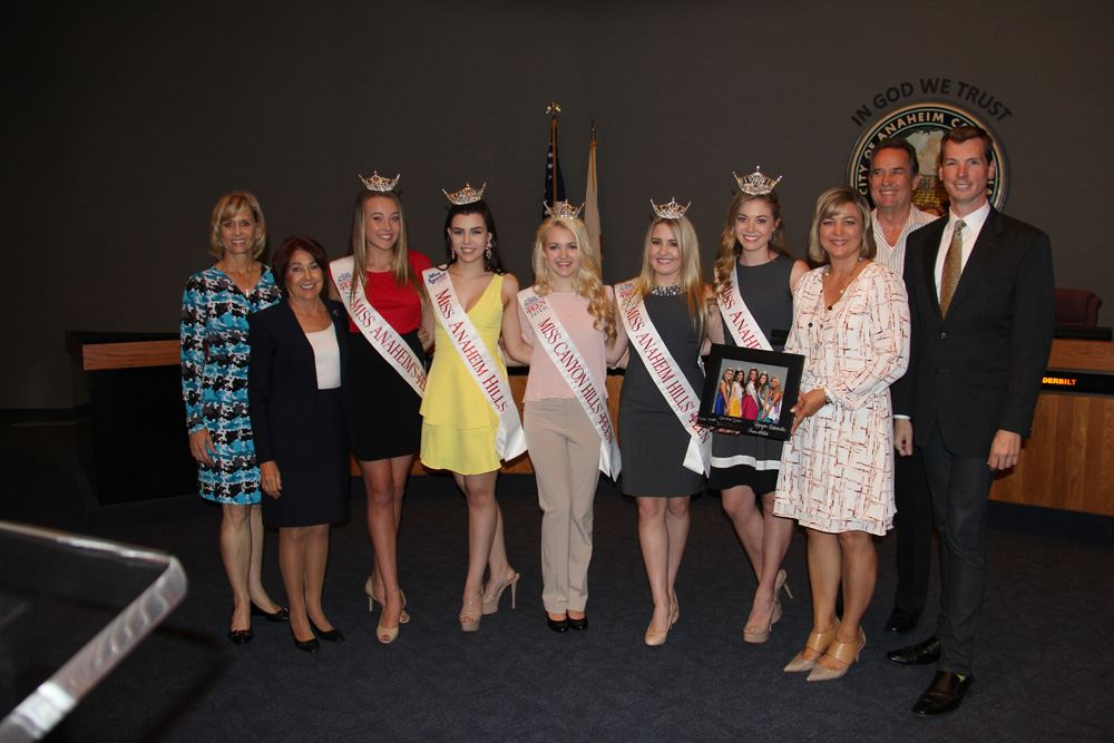 City Council Recognizing Miss Anaheim Teen Winners